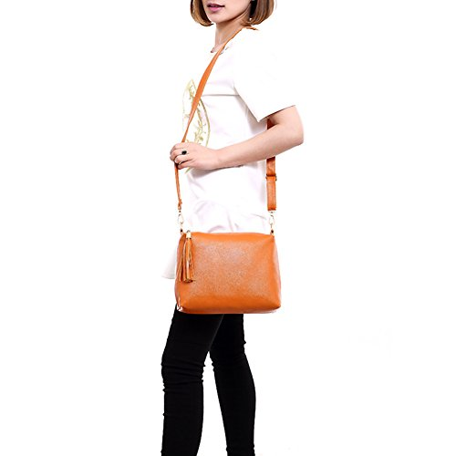 Shopping Leisure Beige Women Tassel Body Square Bag Potato001 Tote Gift Shoulder Travel Cross 1qUnwx6