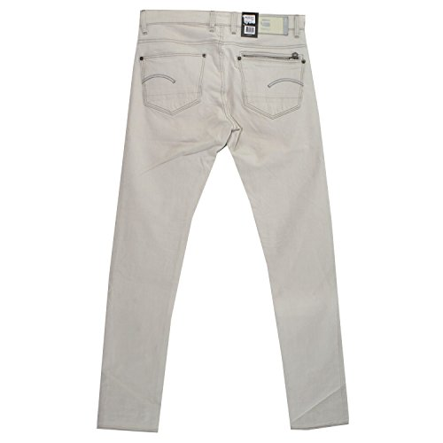 G-Star, Attac Super Slim, Herren Jeans Hose, Stretchdenim, putty white, W 34 L 34 [18792]