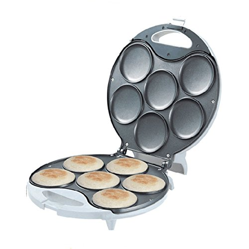 Brentwood Arepa Maker - Produce Up to 6 Authentic Arepas in Minutes - Enjoy the Traditional Taste of Venezuela with Less Calories - Non-Stick Arepa Grill is Easy to Use & Clean - 1 Year Warranty