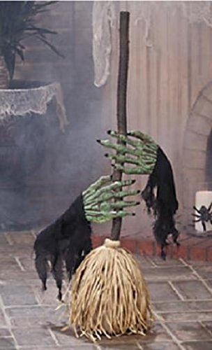 Dancing Broom With Witch Hands Halloween Prop Holiday & Seasonal fall Decor for $<!--$48.99-->