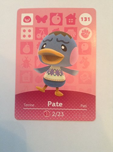 Nintendo Animal Crossing Happy Home Designer Amiibo Card Pate 131/200 USA Version