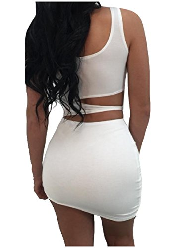 Straps Dress Colored Step As1 Bodycon Summer Sexy One Coolred Solid Women 0nH6zH8