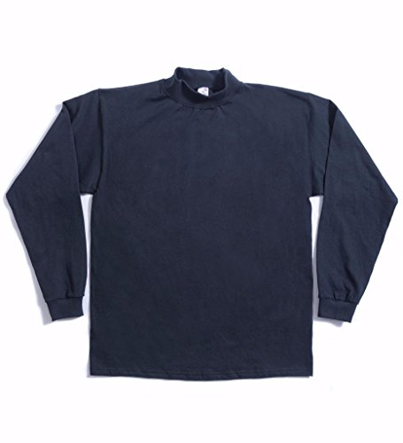 Heavyweight Mock Turtleneck - Cal Cru Men's Long Sleeve Knit top Heavyweight Cotton XL Ash