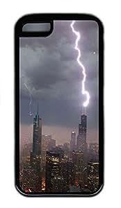 iPhone 5C Case Willis Tower TPU iPhone 5C Case Cover Black