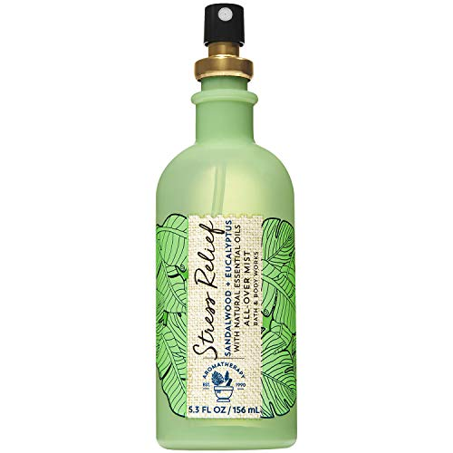 - Bath and Body Works Aromatherapy STRESS RELIEF - SANDALWOOD + EUCALYPTUS Alcohol-Free All-Over Mist 5.3 Fluid Ounce (Limited Edition)
