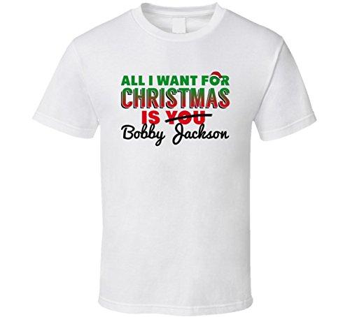 Bobby Jackson All I Want for Christmas Sacramento Basketball T Shirt L White