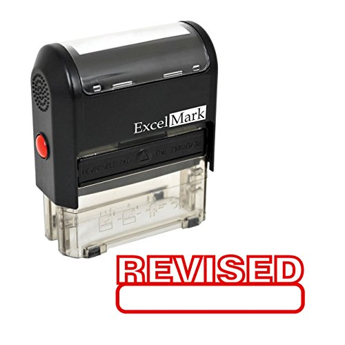 REVISED Self Inking Rubber Stamp - Red Ink