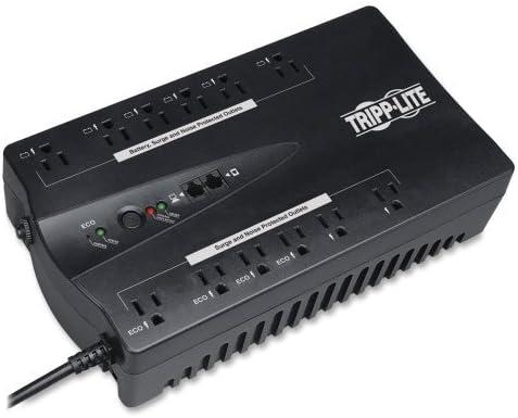 Black Tripp Lite Ultra-hi Efficncy ECO Series UPS System-ECO UPS Backup Time 45Min 12 Outlets 750VA Wholesale CASE of 2