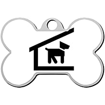 haopengyou Custom Kennel Pet ID Tag for Dog Personalized Front and Back Bone Shape Dog Tags 3D printing Funny Humorous Graphic