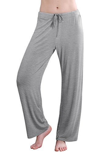Vislivin Women's Stretch Knit Pajama Pants Modal Sleep Pant Gray Wide S