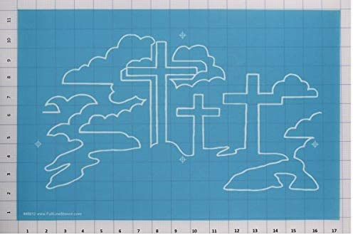 Hancy Creations 40012 Three Crosses Meander by Dave Hudson Full Line Stencils