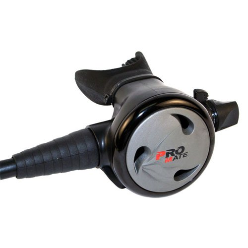 Promate FLEET PNEUMATIC Balanced Adjustable Scuba Dive 2nd Stage Regulator Octopus, Titanium ()