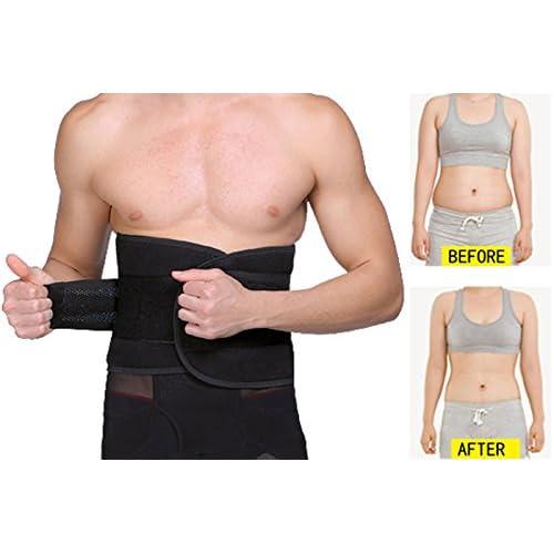 093dba3922 UTRAX Velcro Adjustable Weight Loss Slimming Belt Waist Trimmer Back Support  for Men Women