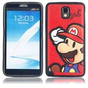Plastic Protective Case with Cute Red Marry Pattern for Samsung Note3