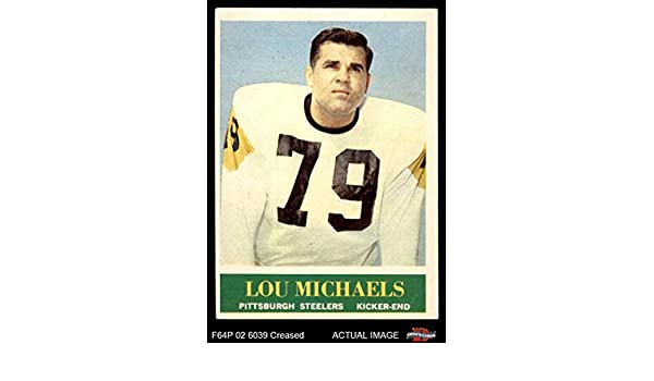 509d0e1f3 Amazon.com  1964 Philadelphia   147 Lou Michaels Pittsburgh Steelers  (Football Card) Dean s Cards 3 - VG Steelers  Collectibles   Fine Art