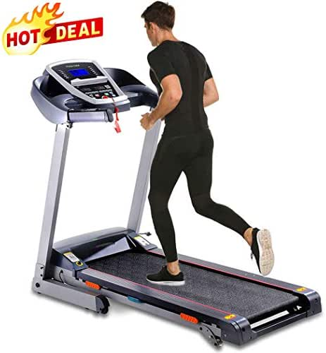 Folding Treadmill, Power Motorized Electric Treadmills with Incline,Walking Jogging Running Machine with APP Control for Home Gym Fitness Exercise Trainer Equipment