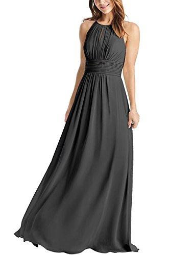 long a line chiffon dress - 9