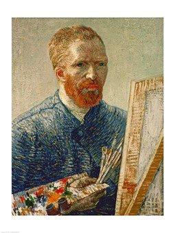 Self Portrait as an Artist, 1888 HIGH QUALITY MUSEUM WRAP CANVAS Print Vincent Van Gogh 18x24