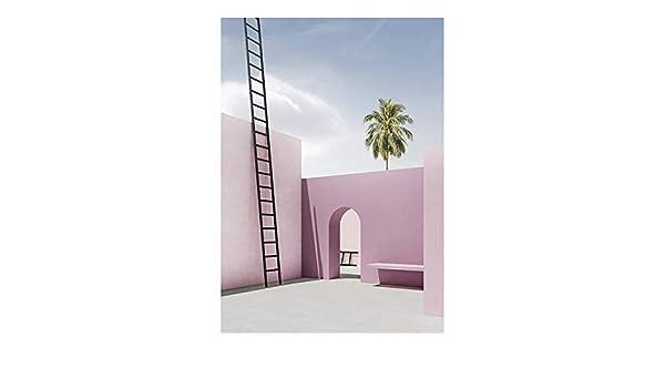 LiMengQi2 Cuadro de Edificio Moderno Pintura póster e impresión ...