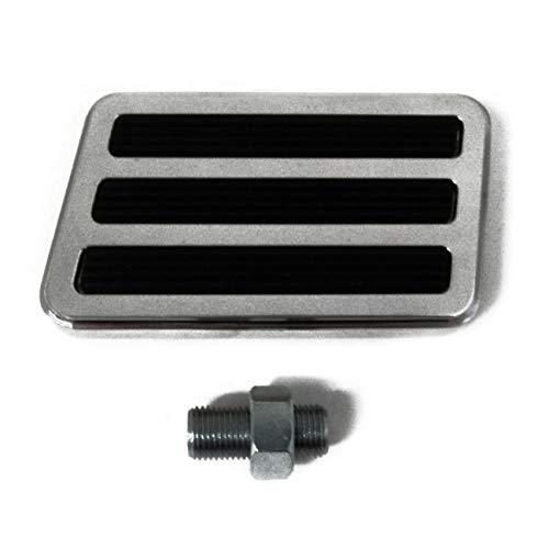 - ZaZaTool Billet Aluminum Polished Brake Pedal Pad 4 1/4