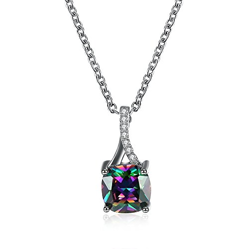 iCAREu Platinum Plated Shining Colored Zircon Square Pendant Necklace for Women,Girls, (Doctor Who Cat Nurse Costume)