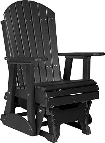 LuxCraft Recycled Plastic 2′ Adirondack Glider Chair