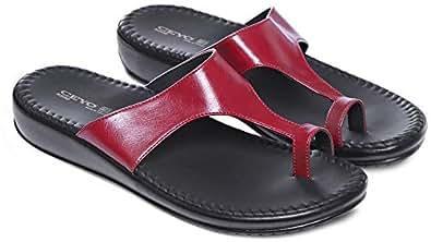 Ceyo Red Slides Slipper For Women