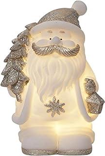 Star Buddy - Statuetta a LED in ceramica, colore: Bianco