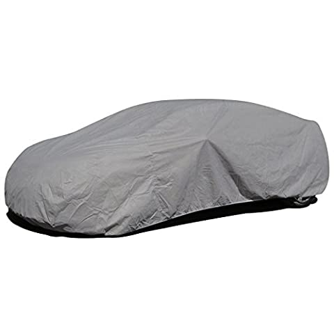Budge Lite Car Cover Fits Sedans up to 228 inches, B-4 - (Polypropylene, Gray)