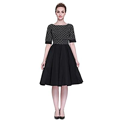 Heroecol Vintage 1950s 50s Dress Style Retro Rockabiily Cocktail