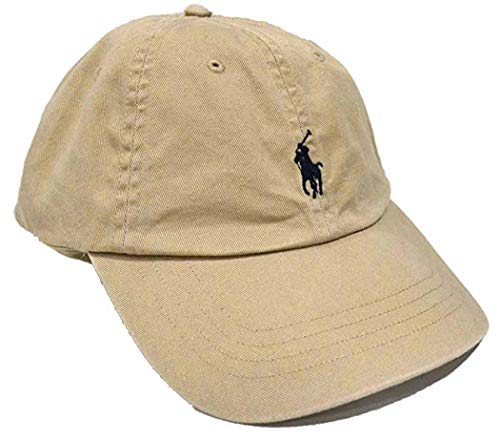 Polo Ralph Lauren Mens Twill Signature Ball Cap (One Size, Light Brown)