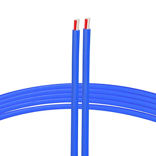 - uxcell K Type Thermocouple Wire 2x0.5mm Stranded Wire Blue PTFE Extension Wire 1 Meters