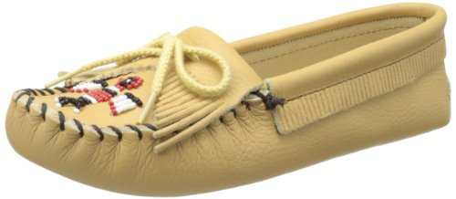 Lightweight Moccasins - Minnetonka Women's Thunderbird Softsole Moccasin,Natural,9 M US