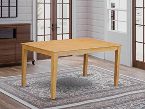 """CAT-OAK-S Capri Rectangular dining table 36""""x60"""" with solid wood top In Cappuccino Finish"""
