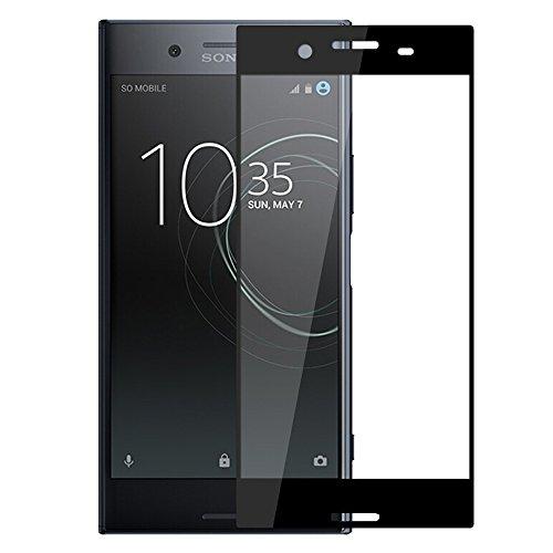 有益事業内容メロドラマティックXperia XZ Premium ガラスフィルム,AutoGo 3D 全面保護 改善版 Sony Xperia XZ Premium フィルム 強化ガラス炭素繊維 超薄0.15mm 【ブラック】二色選択