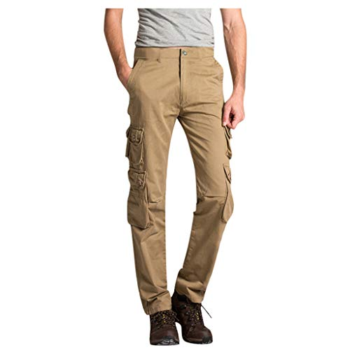 VEZAD Multi-Pocket Tooling Cargo Pants Summer Mid-Rise Men's Longs Loose Casual Tactical Pants