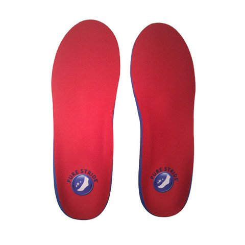 Pure Stride Full Length Orthotics for Men, Red ()