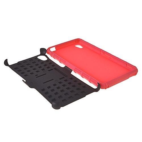 Xperia M4 Aqua Fundas,COOLKE [Negro] Duro resistente Choque Heavy Duty Case Hybrid Outdoor Cover case Bumper Para Sony Xperia M4 Aqua Rosa