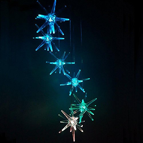 Color Changing LED Solar Wind Chime Light Home Garden Light Ksruee ()