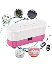 Limpiador por ultrasonidos, dispositivo de limpieza para gafas, joyas, resistente al agua, prótesis, limpiador digital con cesta para el hogar