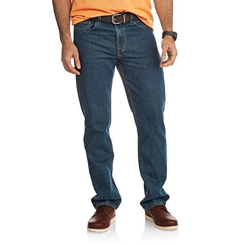 Faded Glory Men's Regular Fit Blue Jeans Available in Regular & Big Men's (30X32, Dark Tint) from Faded Glory