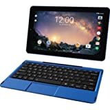 2018 RCA Galileo Pro 2-in-1 11.5 Touchscreen High Performance Tablet PC, Intel Atom Quad-Core Processor, 32GB SSD, 1GB RAM, WIFI, Bluetooth, Webcam, Keyboard, Android 6.0 (Marshmallow), Blue