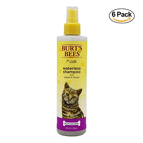 Burt's Bees for Cats All-Natural Waterless Spray Shampoo with Apple and Honey | Best Dry Shampoo for All Cats and Kittens, 10 Ounces, Pack of (Best Waterless Cat Bath)