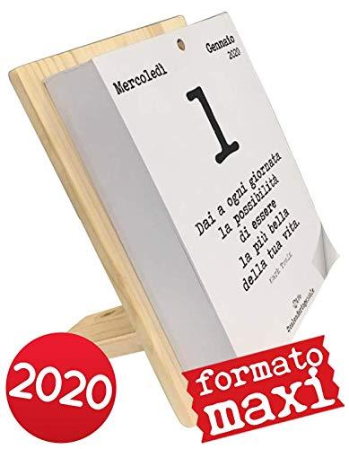 Calendario Geniale 2020 Maxi Con Supporto Leggi Le Frasi Filosofiche Con Il Supporto In Legno Naturale Di Abete