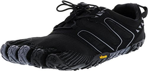 Vibram V-Trail Men's Runner, Black/Grey, 11-11.5 M US / 45 EU