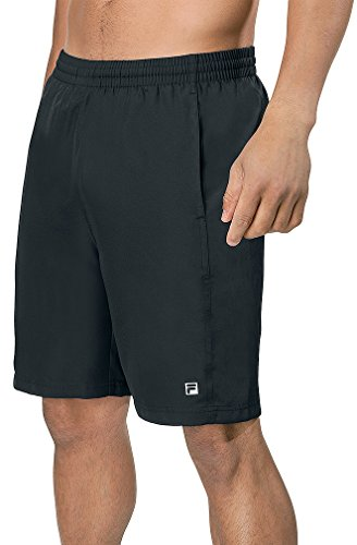 Fila Men's Fundamentals Tour Tennis Shorts, Black, (Fila Match)