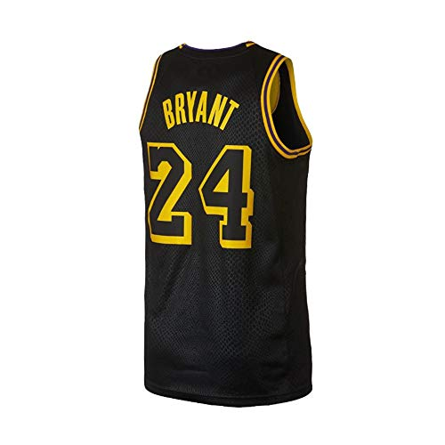 Kobe Bryant Basketball - Youth Bryant Jersey Los Angeles 24 Kobe Kids Basketball Boys Black Size (Black, Youth Large 14/16)