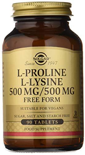 - Solgar - L-Proline/L-Lysine (500/500 mg) 90 Tablets