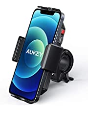 AUKEY Bike Phone Mount Anti Shake 360° Rotation Bicycle Motorcycle Phone Mount for Handlebar Bike Accessories Compatible with iPhone 11 Pro Max/11/XS/8, Galaxy S10+,and More