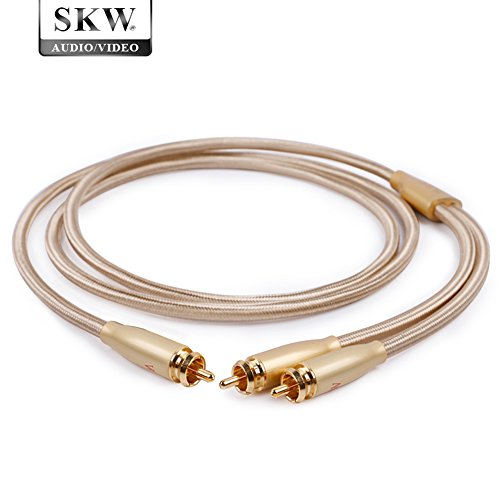 skw high end audio cable rca male to 2rca male stereo audio cable high fidelity signal cable. Black Bedroom Furniture Sets. Home Design Ideas